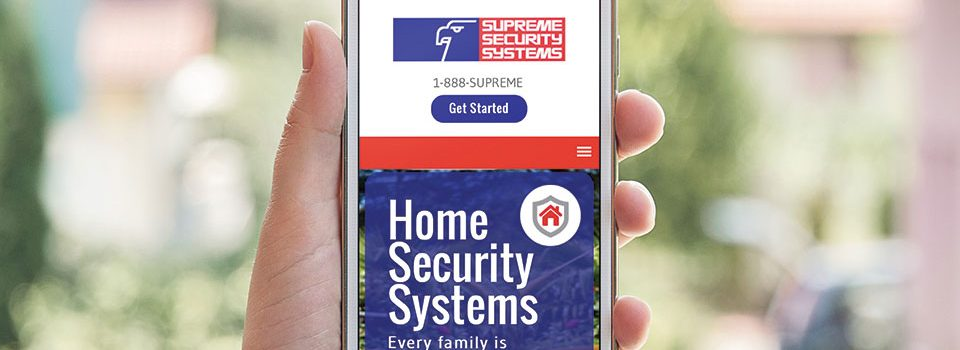 supreme security branding web and marketing.