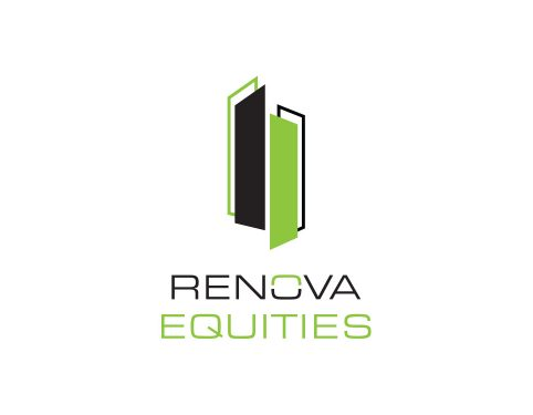 Renova Equities cre logo design.