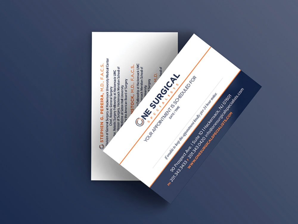 one surgical business cards