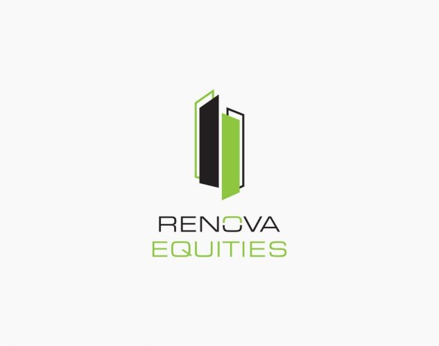 renova equities logo design.