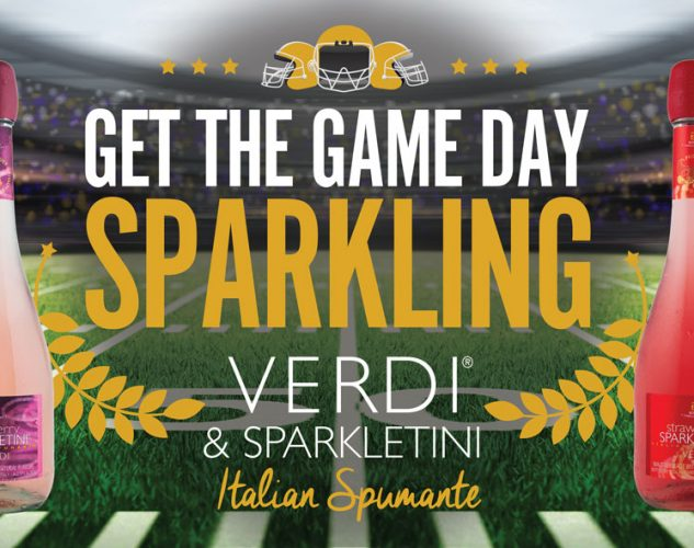 verdi spumante liquor brand super bowl banner design.